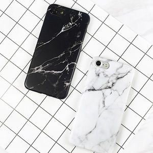 Accessories - Black & White Marble iPhone Case